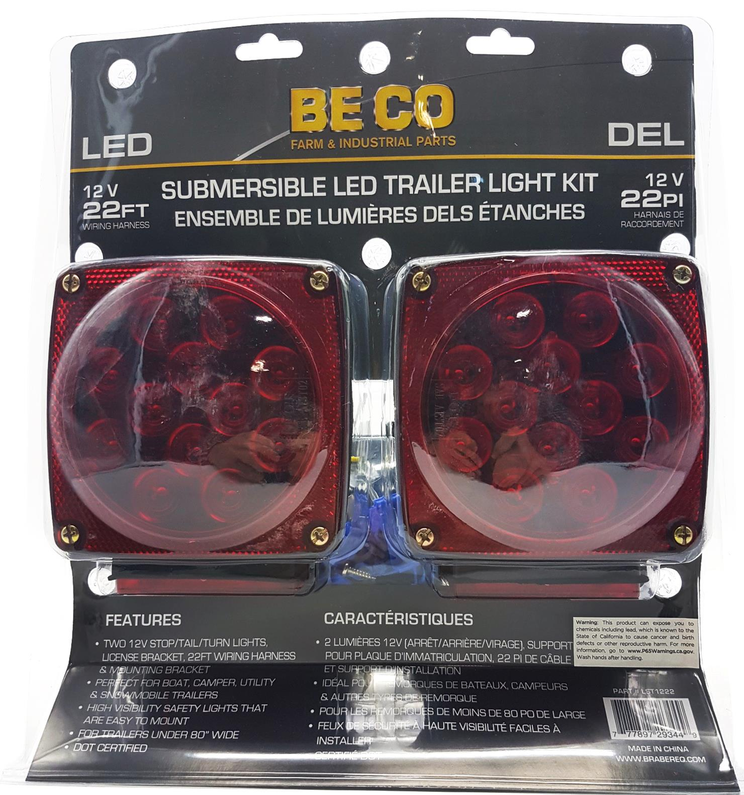 Item Name Led 12v Submersible Trailer Tail Light Kit 125 Wiring A Snowmobile Product Image Gallery