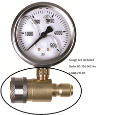 In Line Kit for pressure gauge