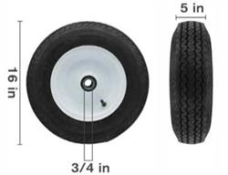 "16"" FOAM FILLED TRAILER WHEEL"